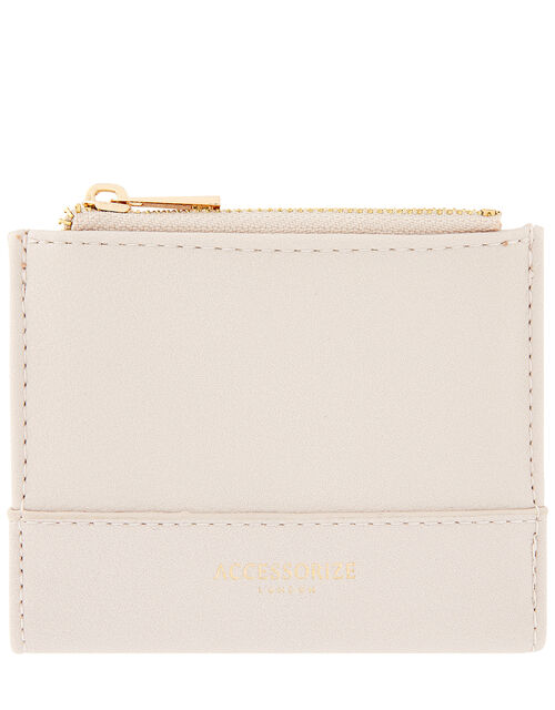 Bella Double Zip Wallet, Nude (NUDE), large