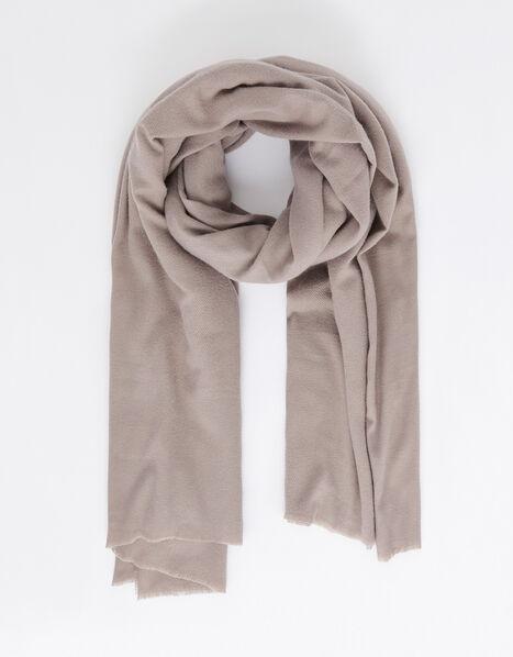 Wells Blanket Scarf Mink, , large