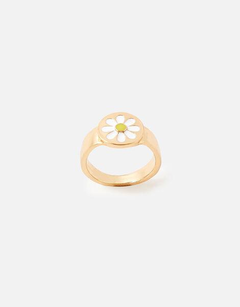 Enamel Daisy Ring White, White (WHITE), large