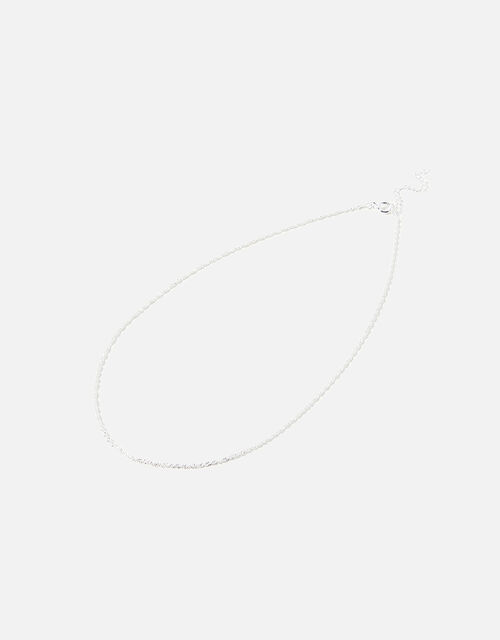 Sterling Silver Twist Chain Necklace, , large