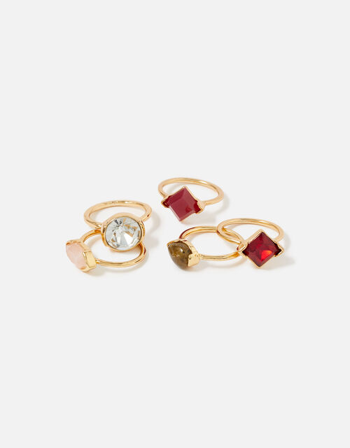 Berry Blush Gem Ring Set, Red (BERRY), large