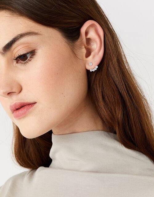 Sterling Silver Sparkle Ear Jackets, , large