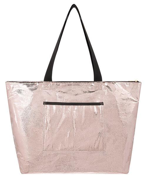 Metallic Packable Gym Bag, , large