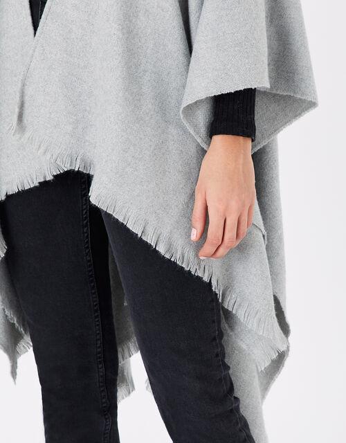 Metallic Blanket Wrap Scarf, , large