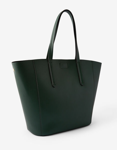 Kayla Curve Tote Bag Green, Green (GREEN), large