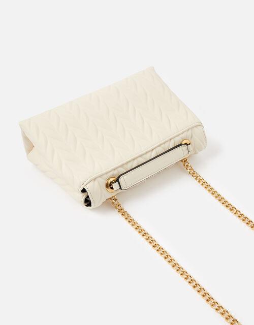 Pleated Ayda Bag, Cream (CREAM), large