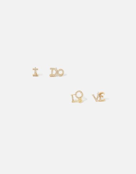 Bridal Slogan Stud Earrings, , large
