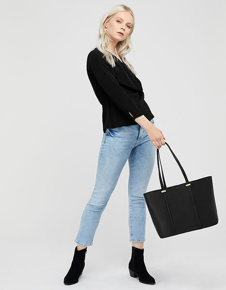 Ali Tote Bag Black, Black (BLACK), large