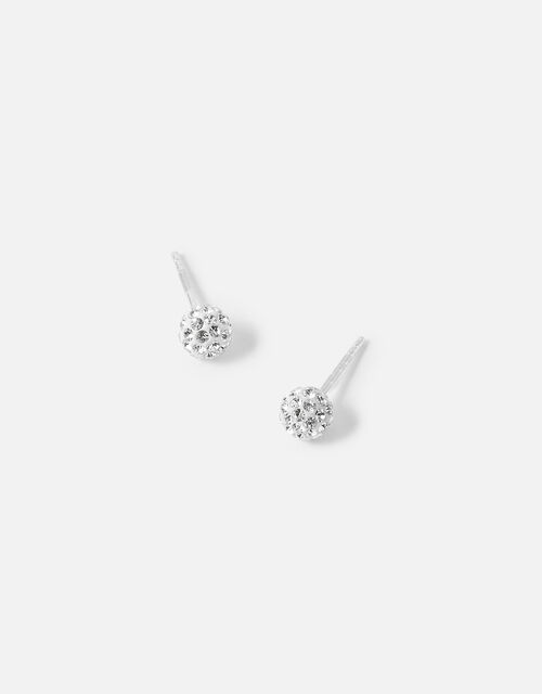 Sparkle Pave Ball Stud Earrings, , large