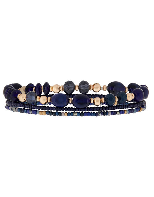 Bead and Crystal Stretch Bracelet Set, , large