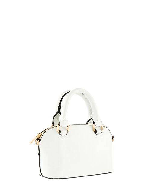 Cross-Body Kettle Bag, White (WHITE), large