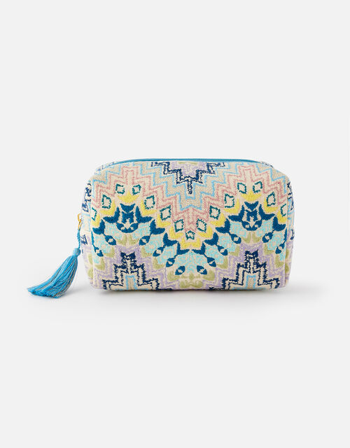 Embroidered Woven Wash Bag , , large
