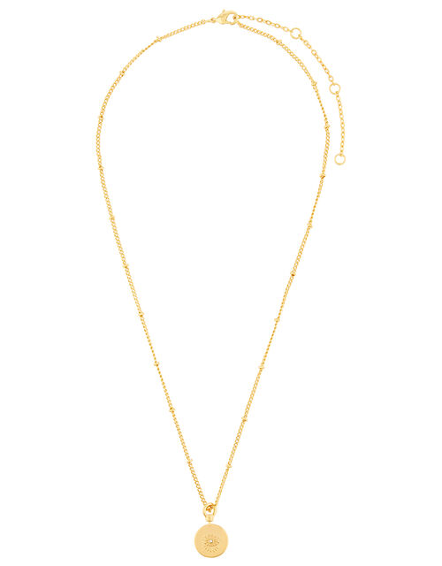 Gold-Plated Evil Eye Pendant Necklace, , large