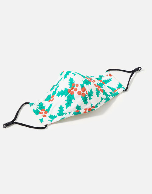Christmas Jolly Holly Face Covering, , large