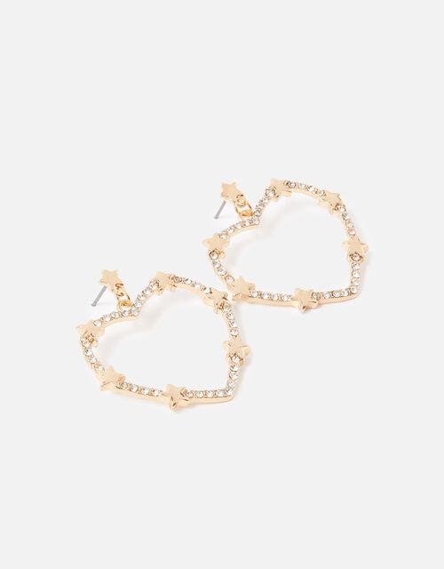 New Decadence Heart Crystal Earrings, , large