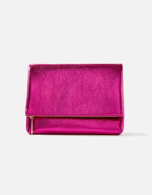 Foldover Clutch Bag, Pink (PINK), large