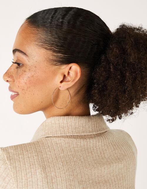 Rose Gold-Plated Hoop Earrings, , large