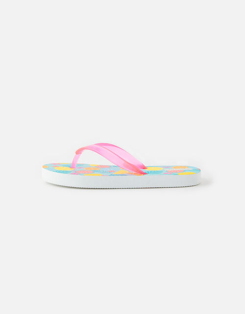 Fruit Print Flip Flops, Multi (BRIGHTS-MULTI), large