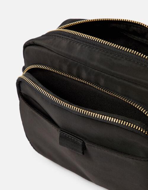 Megan Large Nylon Cross-Body Bag , Black (BLACK), large