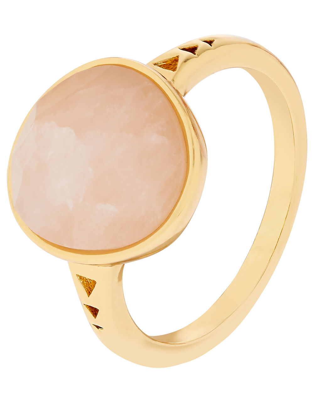 Healing Stones Rose Quartz Ring, Pink (PINK), large