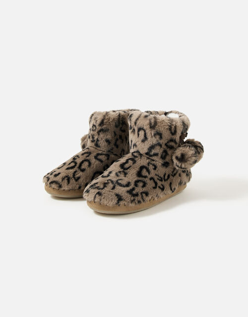 Super-Soft Slipper Boots, Leopard (LEOPARD), large