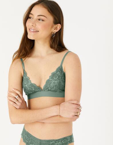 Lace Bralet Green, Green (KHAKI), large