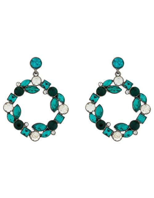 Esmeralda Gem Doorknocker Earrings, , large
