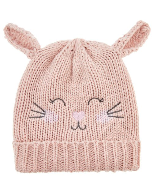 Bella Bunny Beanie Hat, Pink (PINK), large
