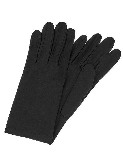 Bamboo Jersey Touch Screen Gloves, Black (BLACK), large