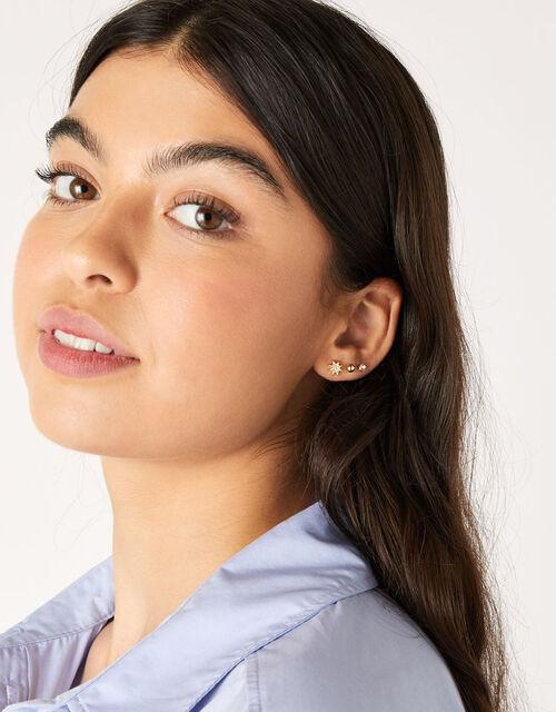 Pave Star Stud Earring Set, , large