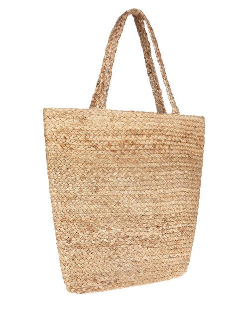 Diamante Polka-Dot Woven Shoulder Bag, , large