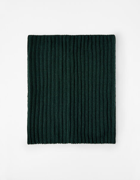Chunky Knit Snood  Green, Green (GREEN), large