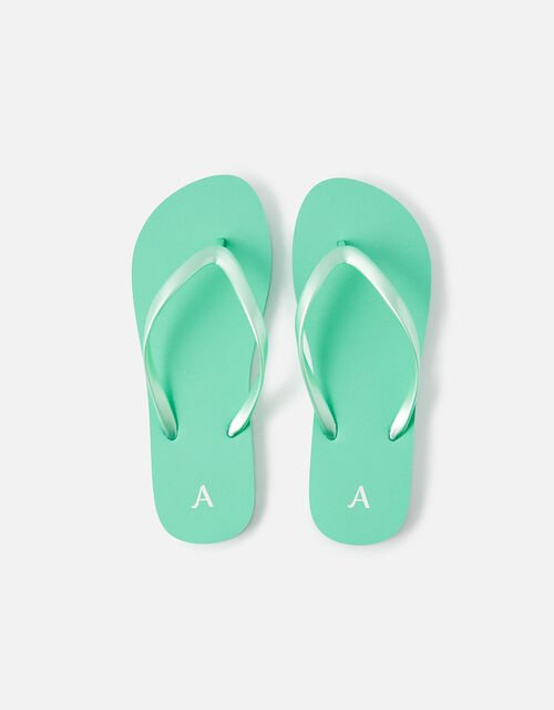 Plain EVA Flip Flops, Green (GREEN), large