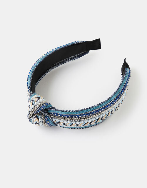 Embellished Knot Headband, , large