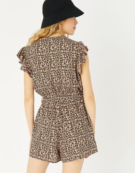 Leopard Print Playsuit Leopard, Leopard (LEOPARD), large