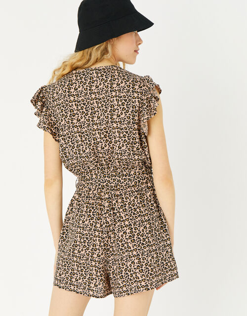 Leopard Print Playsuit, Leopard (LEOPARD), large