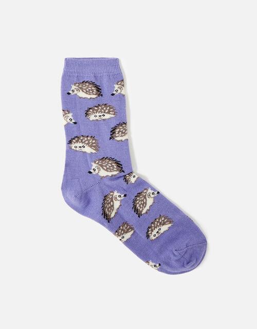 Hedgehog Socks , Purple (LILAC), large