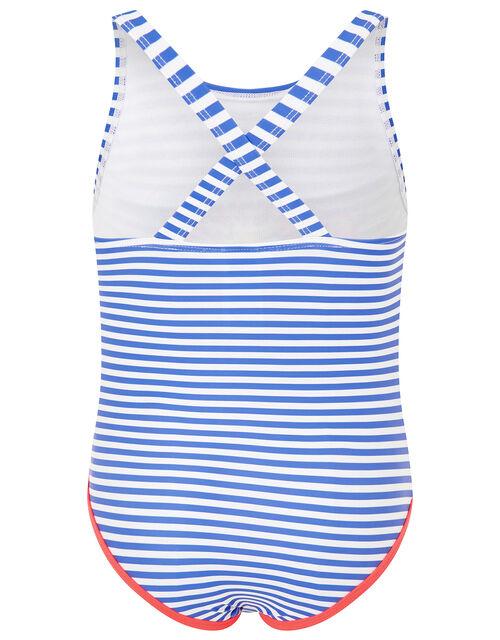 Stripe High Five Swimsuit, Multi (BRIGHTS-MULTI), large