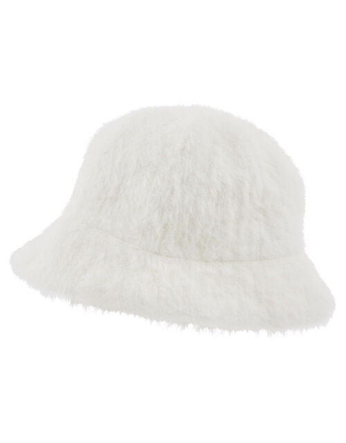 Fluffy Bucket Hat, Cream (CREAM), large