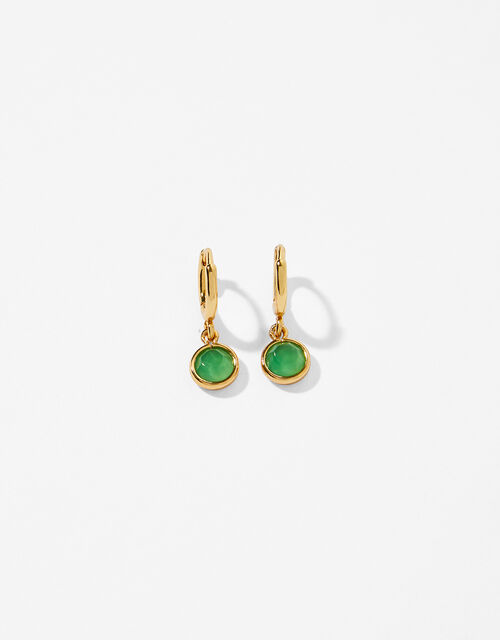 Gold-Plated Birthstone Earrings - May, , large