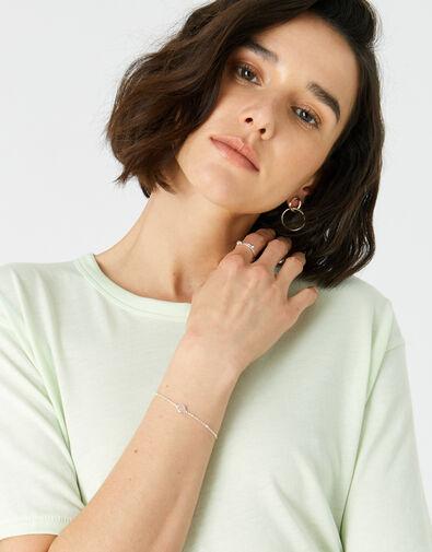 Sterling Silver Rose Quartz Bracelet, , large