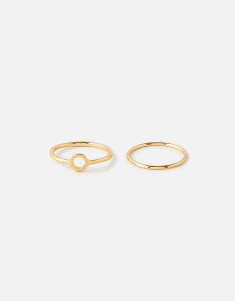 Gem Stacking Ring Set Gold, Gold (GOLD), large