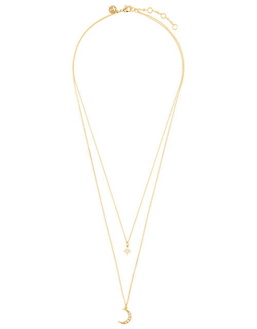 Gold-Plated Celestial Necklace, , large