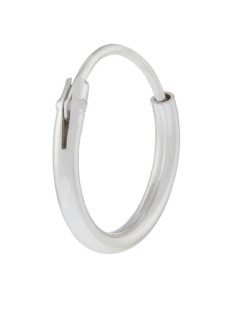 Sterling Silver Single Mini Hoop, , large