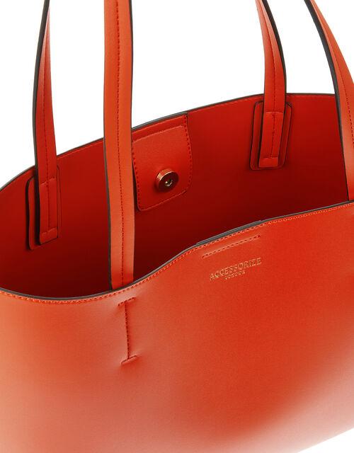 Leo Shopper Bag, Orange (ORANGE), large