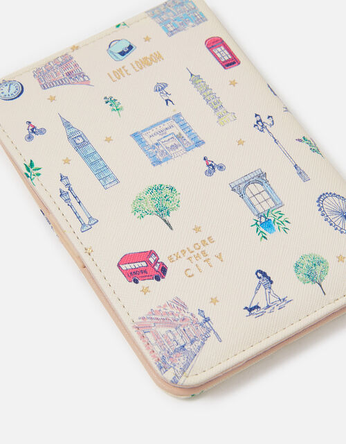 All Over London Print Passport Holder, , large