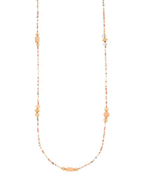 Skinny Beaded Rope Necklace, , large