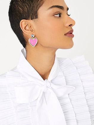 Heart Enamel Earrings
