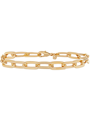 Gold Plated Large Link Chain Bracelet