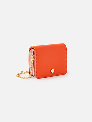 Cali colour block chain card holder